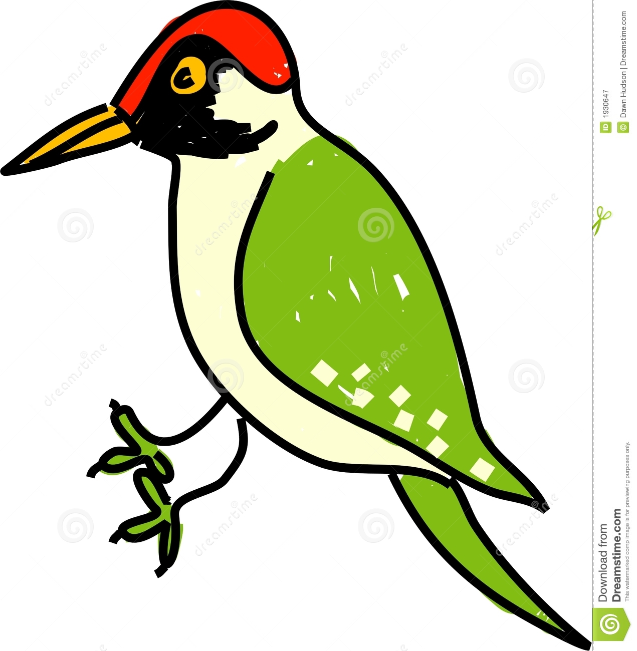 Green Woodpecker Royalty Free Stock Photography.