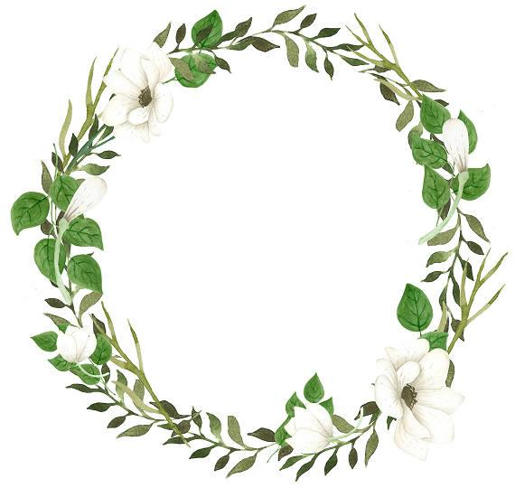 Greenery wreath clipart 8 » Clipart Station.