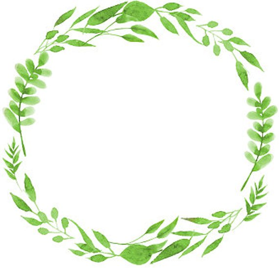 Greenery wreath clipart 6 » Clipart Station.