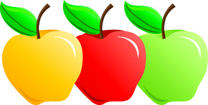 Apple clipart red.