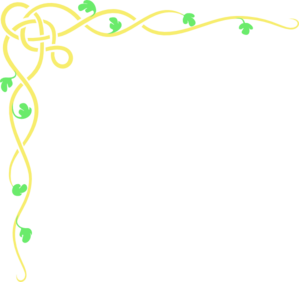 Green flower line clipart.