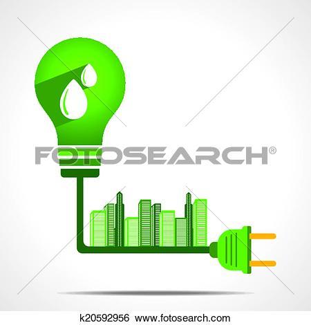 Clip Art of green energy concept k20592956.