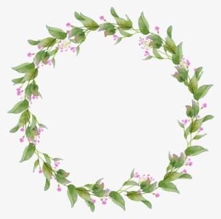 Free Greenery Wreath Clip Art with No Background.