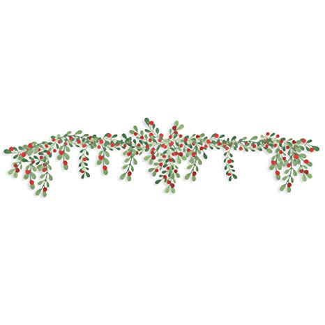 Martha Stewart 30068365 Paper Greenery Garland, Red, Green.