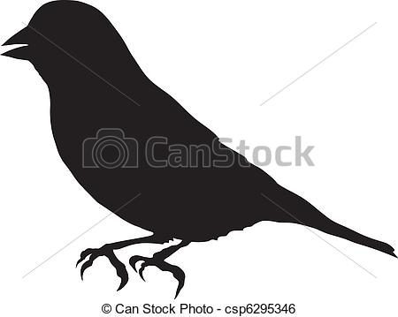 Clip Art Vector of greenfinch.