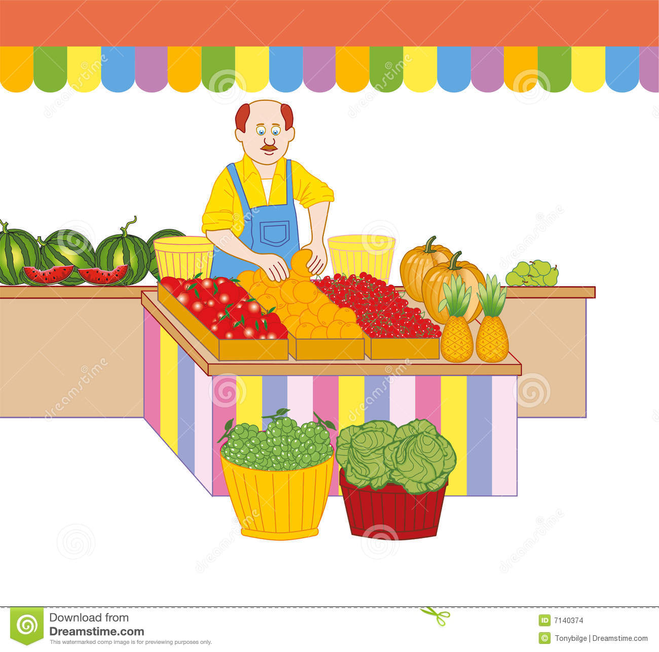 Green grocer clipart.