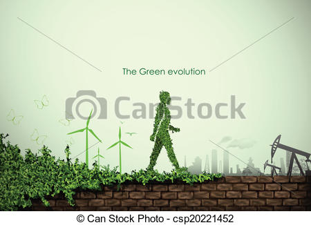 Clipart Vector of green world.