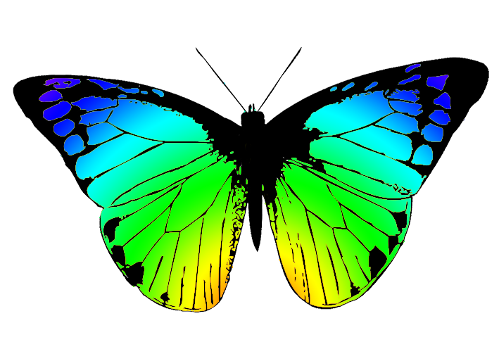 Transparent Butterfly Wings Clip Art.