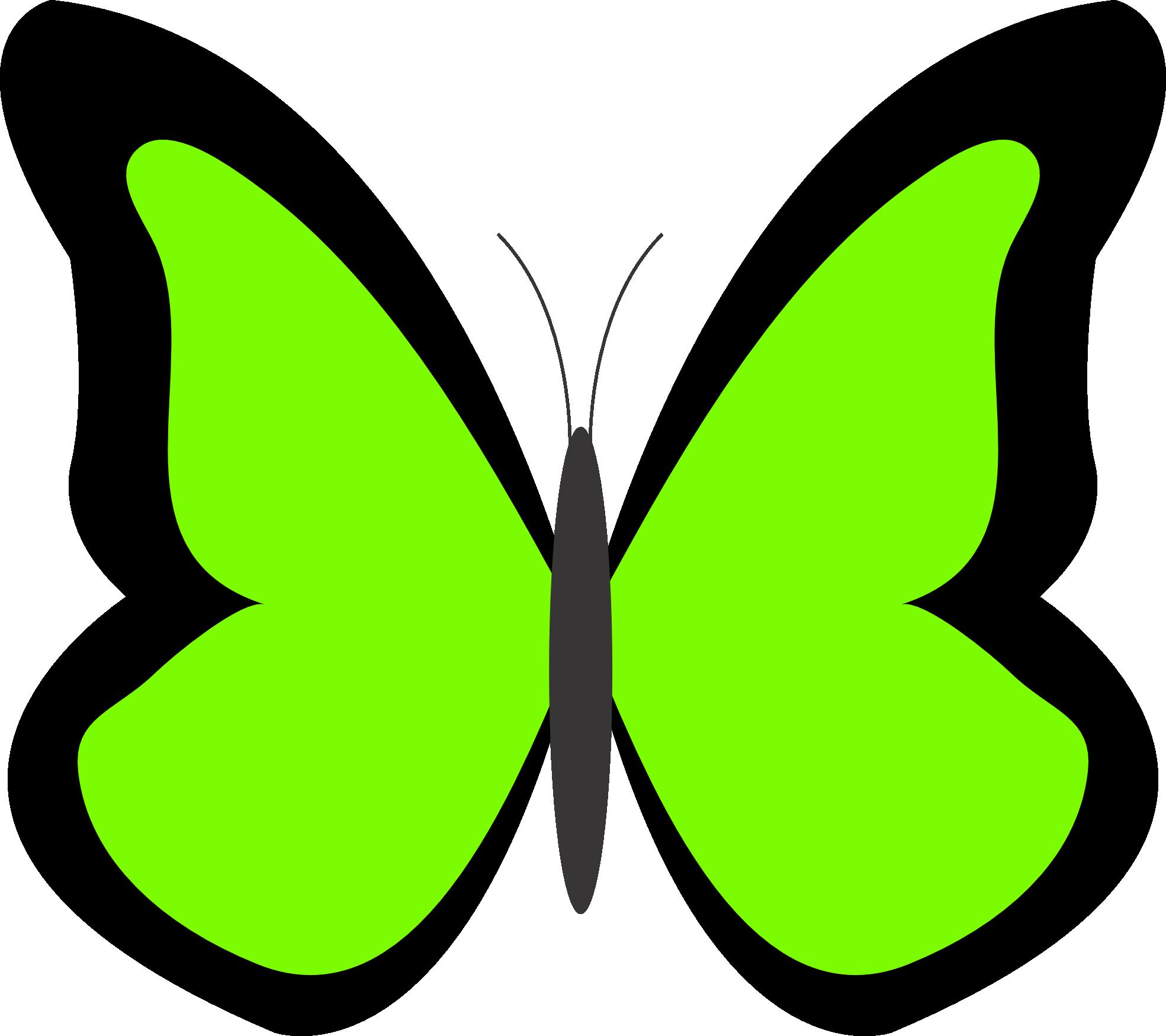 Green Butterfly Clip Art.