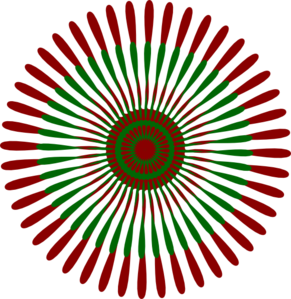 Red and green 4 clipart.