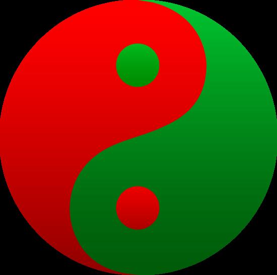 Green yinyang clipart free.