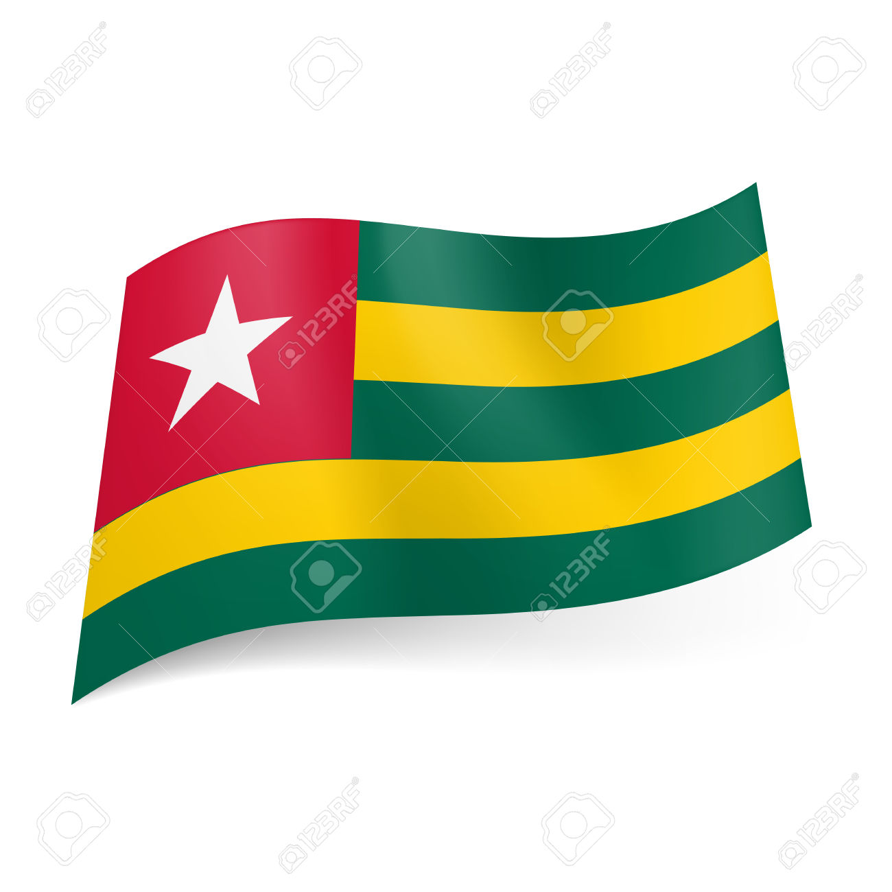 Red green and yellow flags clipart.