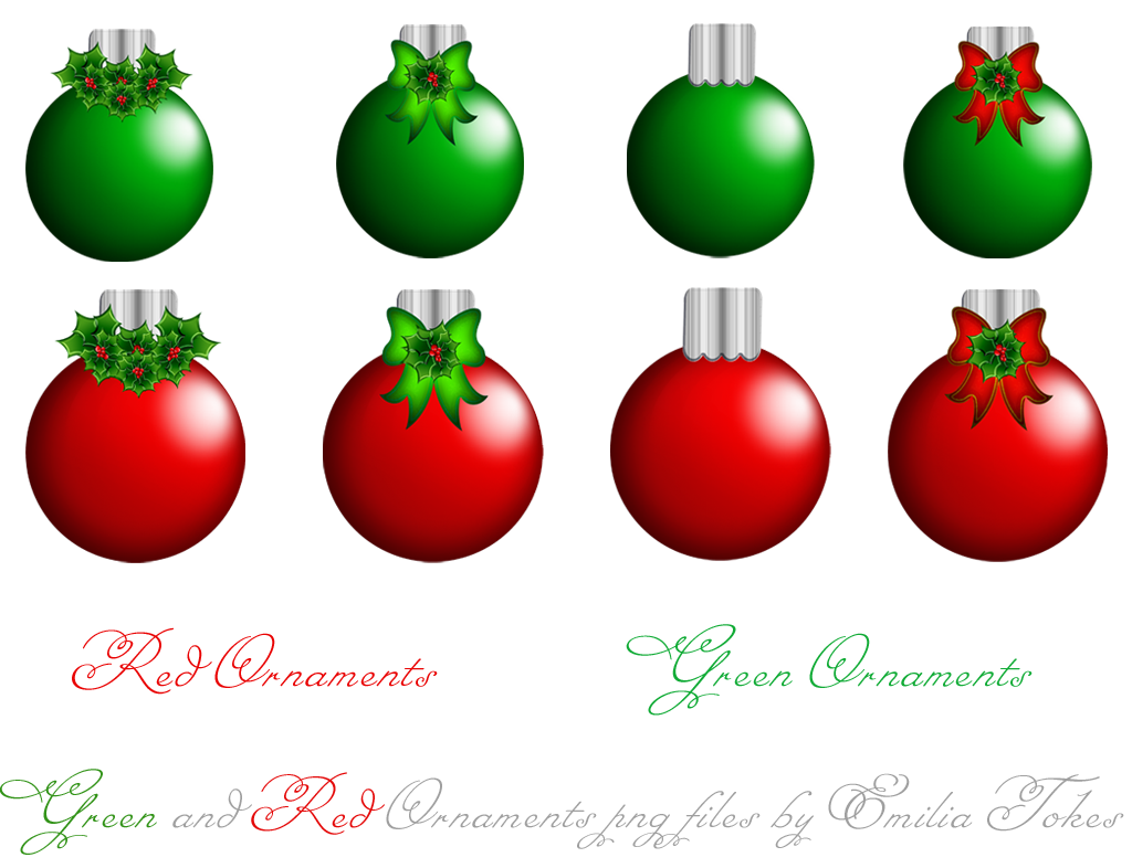 Red green ornament clipart.