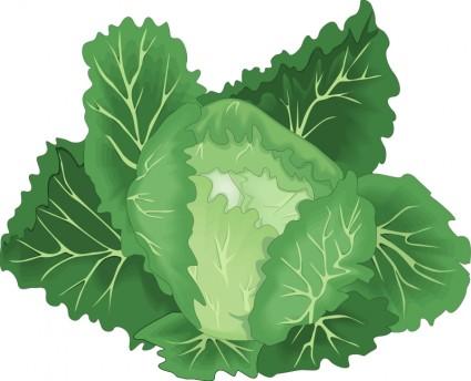 Leafy Green Vegetables Clip Art.