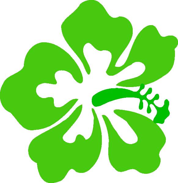 Green Tropical Flower Clip Art at Clker.com.