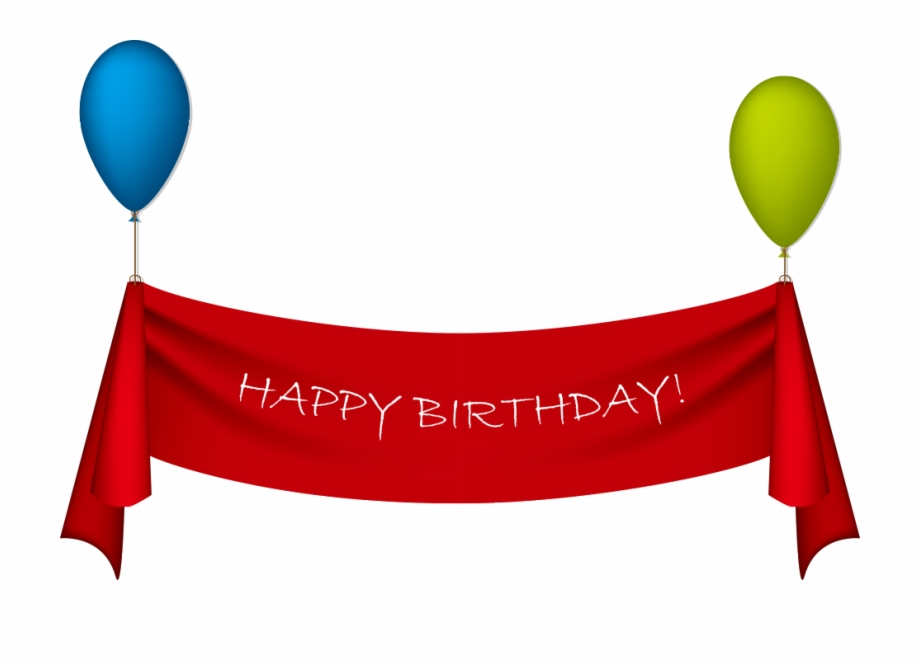 Birthday Ribbon Greeting Card Clip Art.