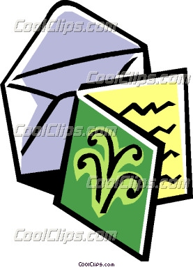 Greeting card and envelope clipart.