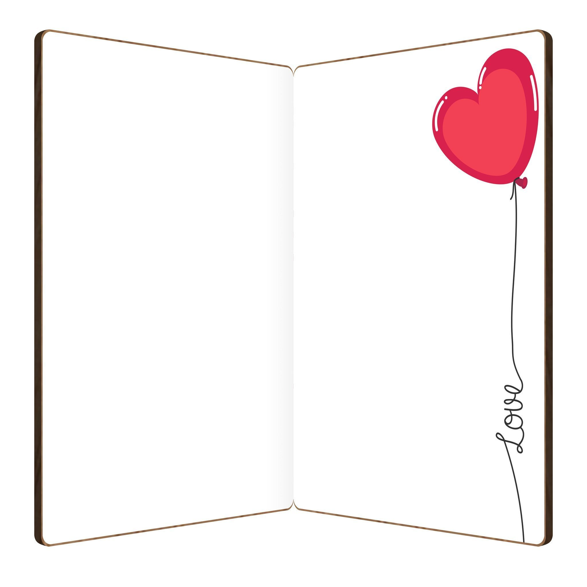 Floating Hearts Love Card.