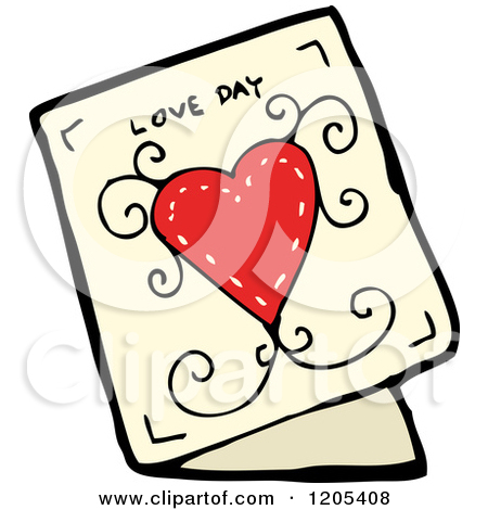 Cartoon of a Valentine's Day Greeting Card.