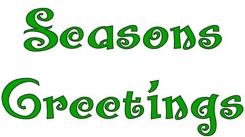 Season's Greetings Clipart.
