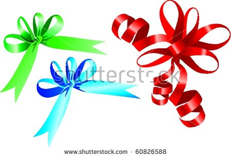 Clipart Holiday Color Gift Ribbons Bow Stock Vector 60826585.