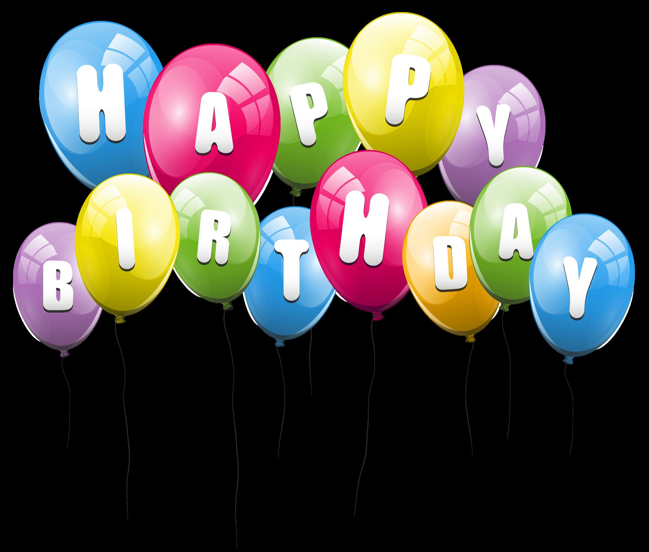 Transparent Multi Color Balloons Clipart.