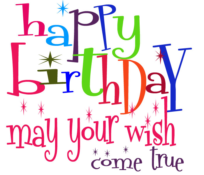 Wish you happy birthday clipart.
