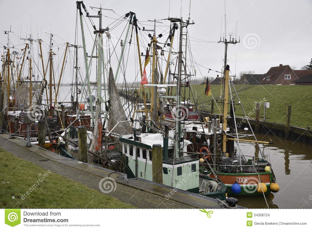 Fishing Port Of Greetsiel, Germany Editorial Stock Image.