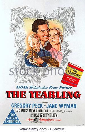 Claude Jarman Jane Wyman & Gregory Peck The Yearling (1946 Stock.