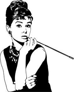 Gregory Peck and Audrey Hepburn.