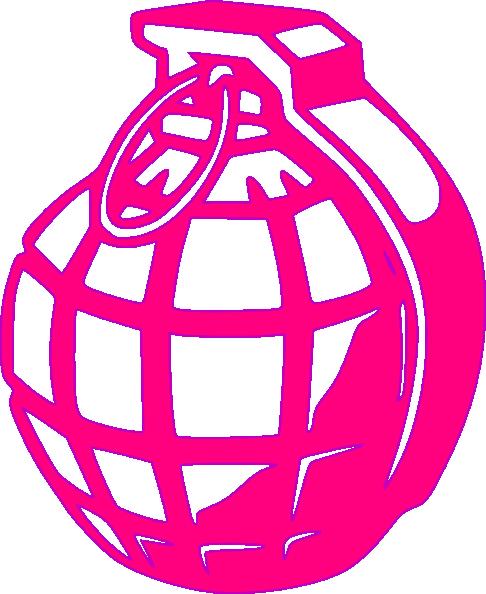 Pink Grenade clip art.