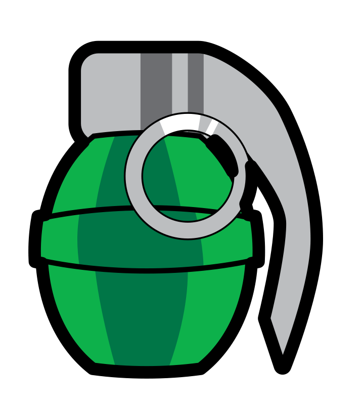 Free to Use & Public Domain Grenade Clip Art.