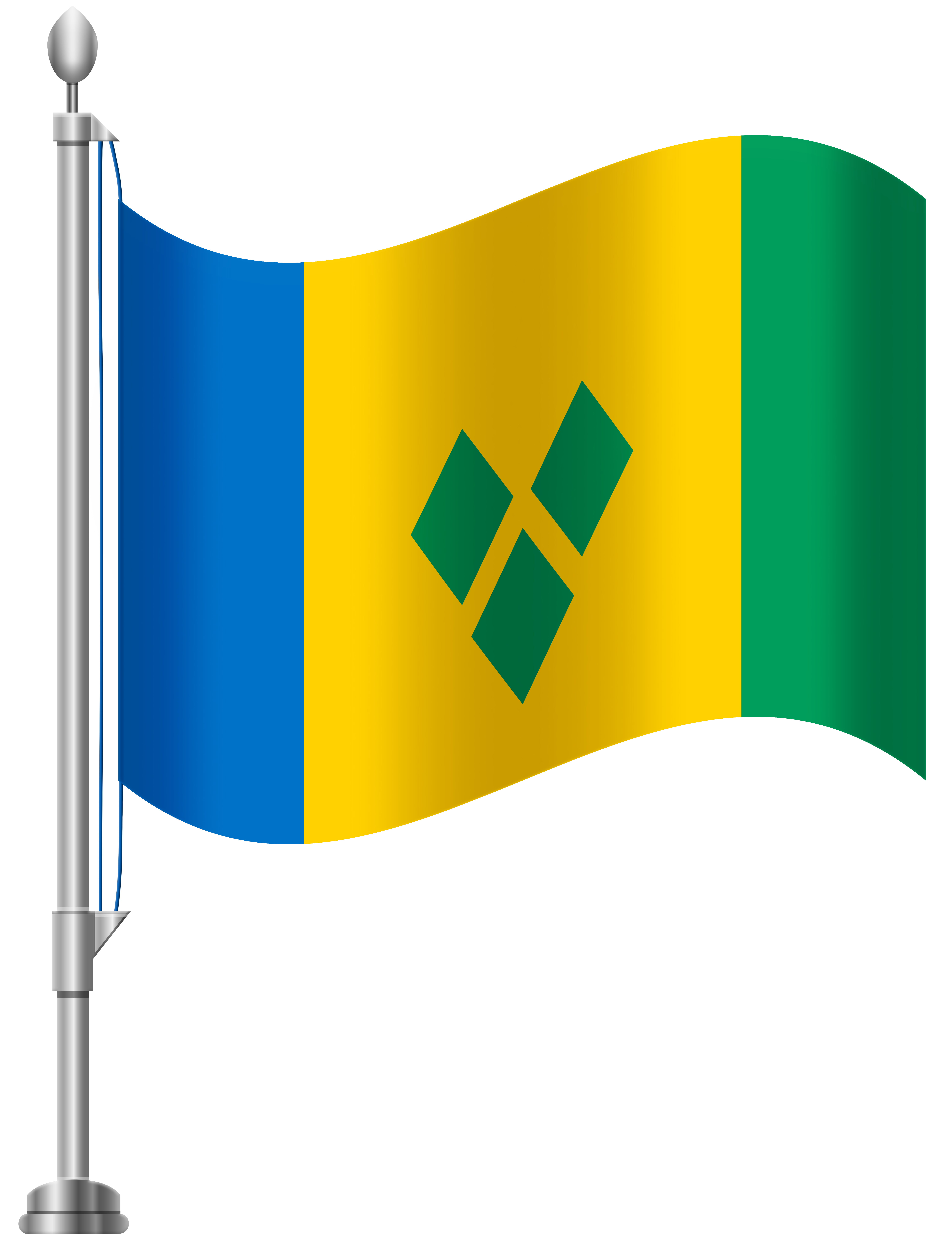 St Vincent and The Grenadines Flag PNG Clip Art.