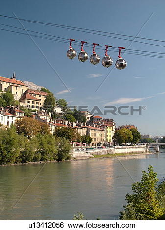Stock Images of France, Grenoble, Isere, Rhone.