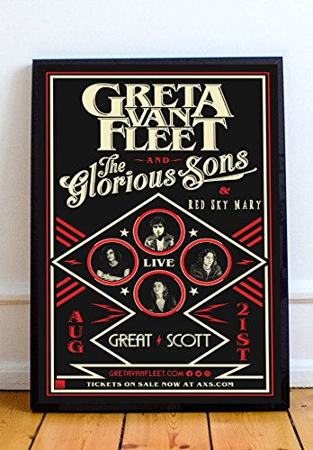 Greta Van Fleet Limited Poster Artwork.