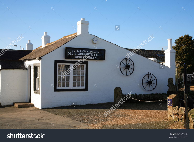 World Famous Blacksmiths Shop, Gretna Green, Scotland Stock Photo.