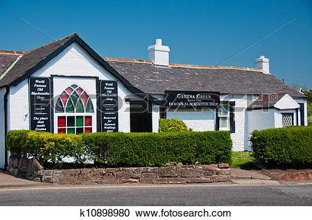 Stock Photography of Gretna Green Blacksmith Shop, Scotland.