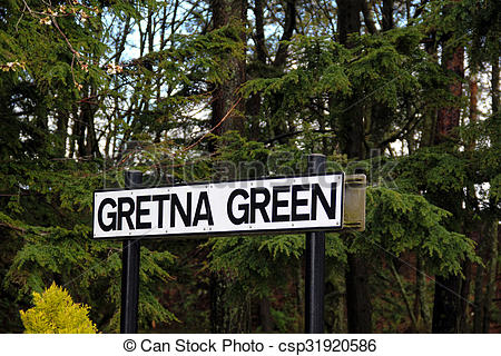 Pictures of Gretna Green Sign.