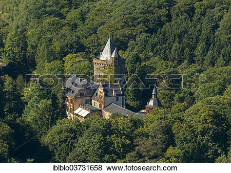 "Pictures of ""Aerial view, Schloss Landsberg Castle, Ratingen."