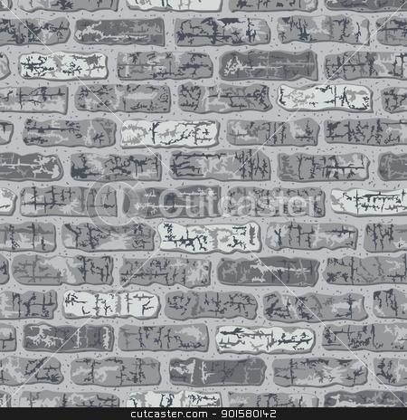 Brick Pattern in Grey stock vector.