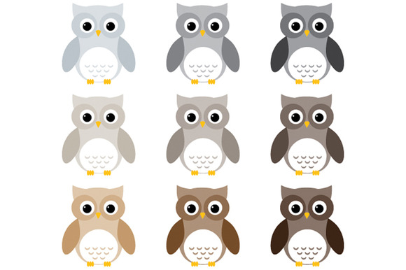 Grey Owl Clipart.