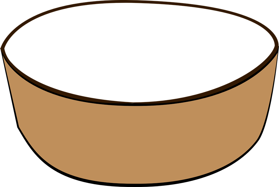Free vector graphic: Bowl, Dish, Grey, Brown, Empty.