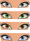 Grey eyes clipart.