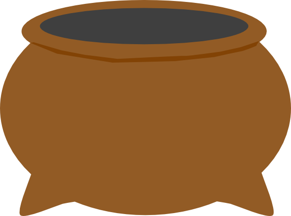 Brown Pot Dark Grey Inside Clip Art at Clker.com.