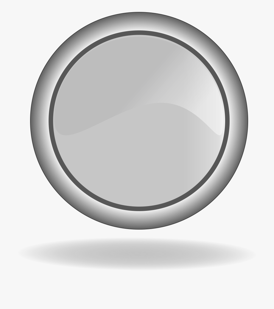 Icon Of The Grey Button Clipart.