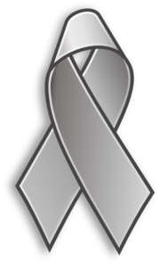 Grey Cancer Ribbon Clip Art at Clker.com.