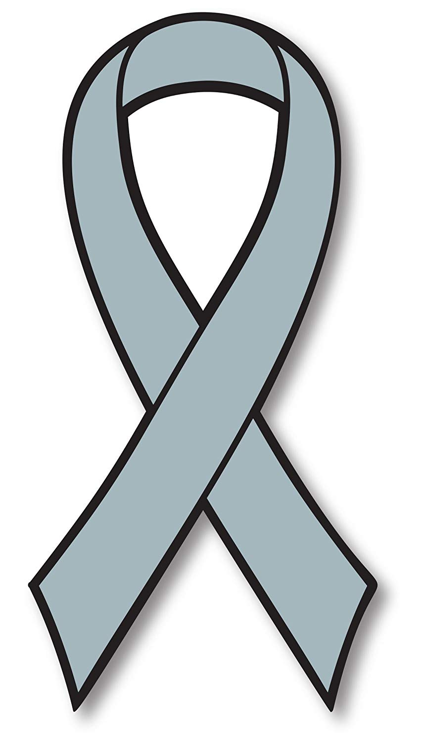 Grey Brain Cancer Awareness Ribbon Car Magnet Decal Heavy Duty Waterproof.