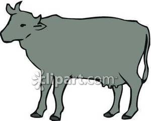 Dark_Grey_Cow_Royalty_Free_Clipart_Picture_090103.