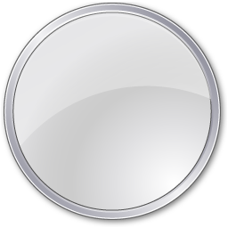 Circle, grey icon.