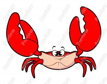 Crab Cartoon Clip Art.